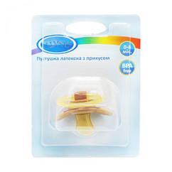 Пустушка з прикусом. 0-6 міс. (коричневий) Pk 012/0-6
