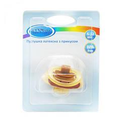 Пустушка з прикусом 6-12 міс. (коричневий) Pk 012/6-12