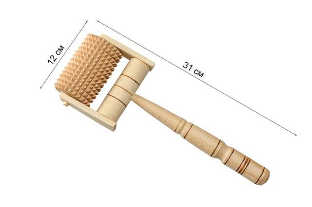 Массажер роликовый деревянный