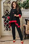Женский нарядный костюм Туника и брюки Размер 50 52 54 56 58 60 62 64  Разные цвета, фото 7