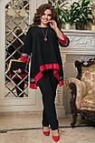 Женский нарядный костюм Туника и брюки Размер 50 52 54 56 58 60 62 64  Разные цвета, фото 3