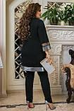 Женский нарядный костюм Туника и брюки Размер 50 52 54 56 58 60 62 64  Разные цвета, фото 5