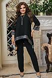 Женский нарядный костюм Туника и брюки Размер 50 52 54 56 58 60 62 64  Разные цвета, фото 4