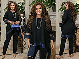 Женский нарядный костюм Туника и брюки Размер 50 52 54 56 58 60 62 64  Разные цвета, фото 2