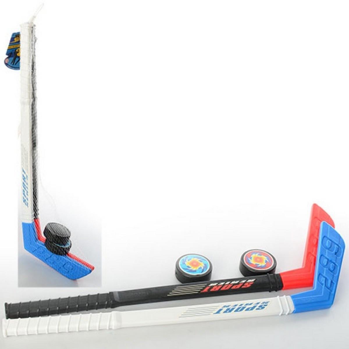 Детский набор для хоккея MS 2910: 2 клюшки + 2 шайбы