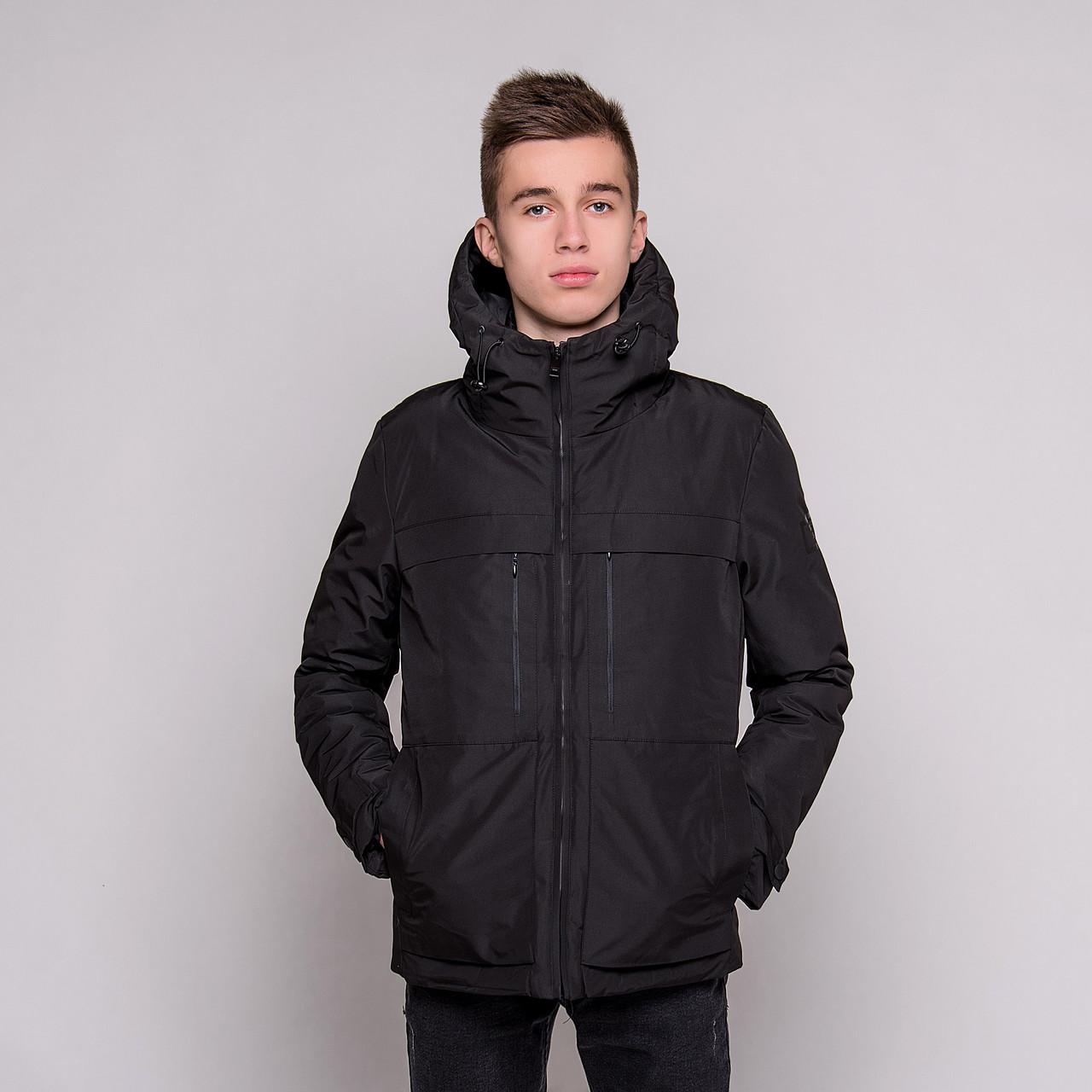 Чоловіча зимова куртка Burberry, чорного кольору.