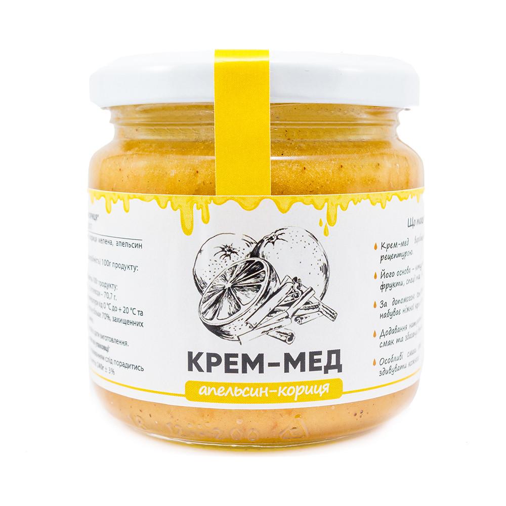 """Мед-крем """"Апельсин-кориця"""" 240г"""