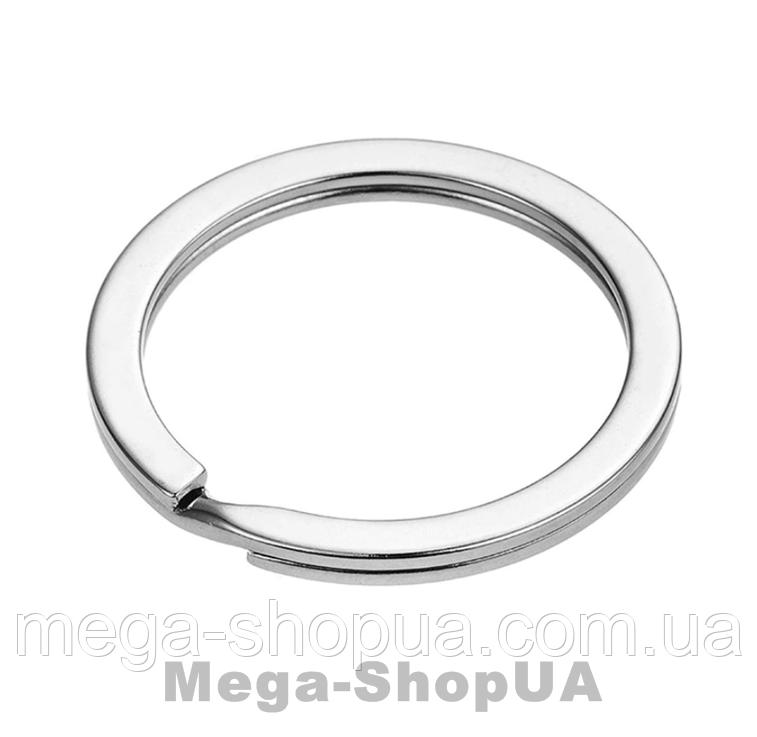 Кольцо для ключей 1 штука 30 мм / 2 мм Silver