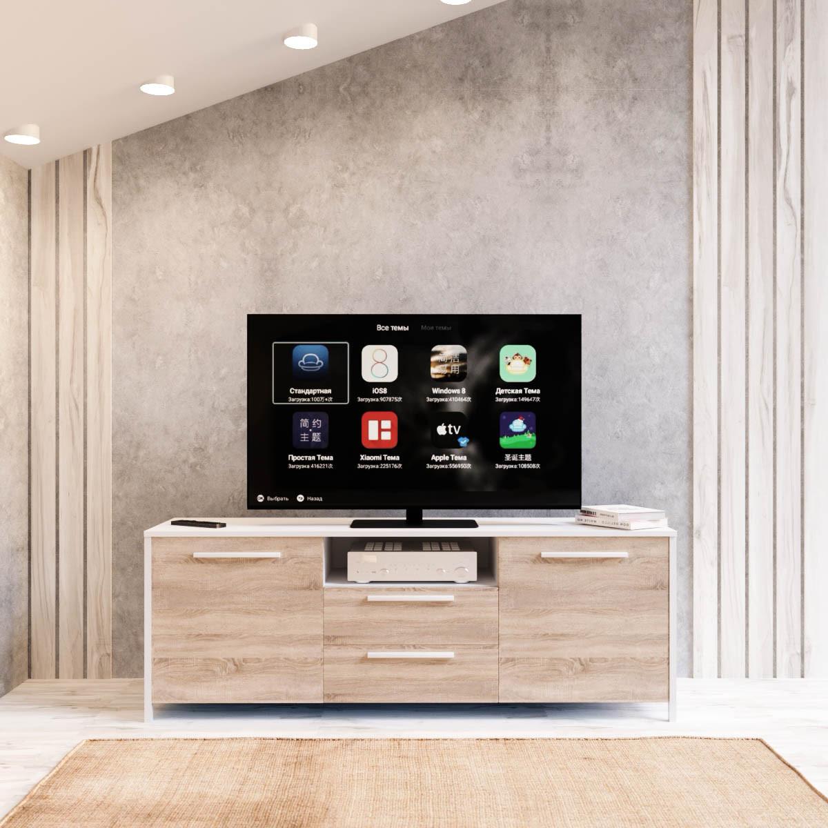 Тумба під телевізор UNTV 01W 42,5×155×36,5
