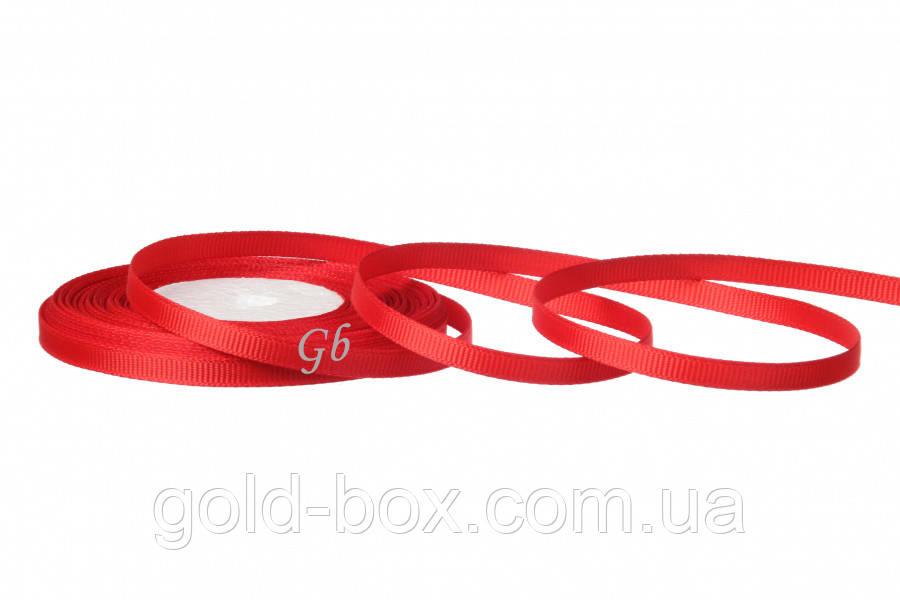 Лента репс 0,6см красная