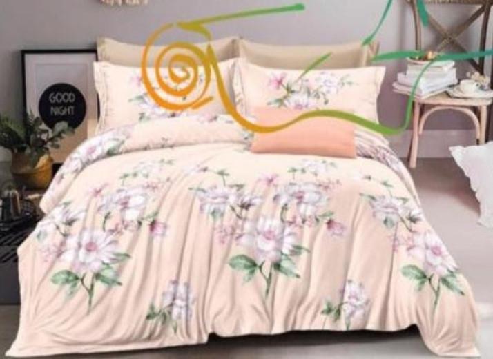 Комплект постельного белья  Бязь GOLD 100% хлопок Цветочек