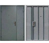 Полуторная Металлическая входная - техническая дверь