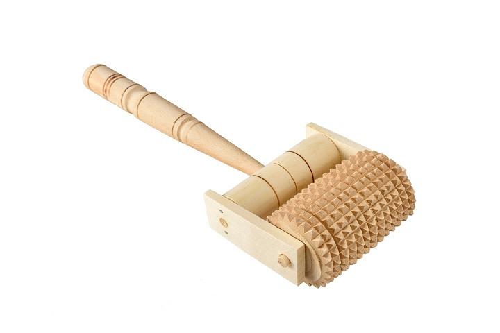 Массажер деревянный роликовый универсальный
