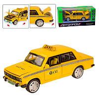 """Машина металева """"АВТОПРОМ"""" Lada 2106 """"Таксі"""" 7643 звук, світло"""