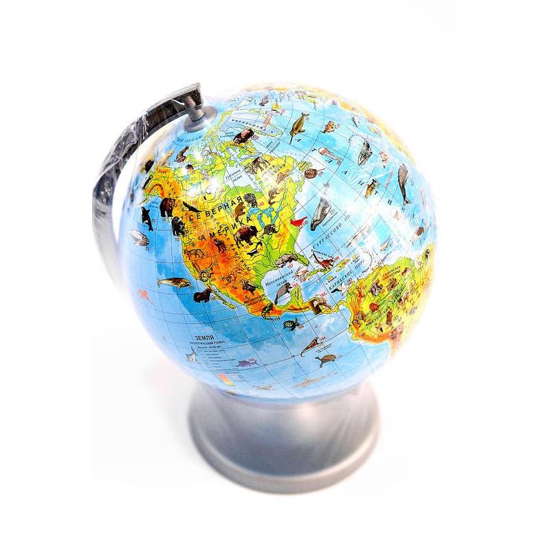 Глобус настольный животные (рус) 220мм