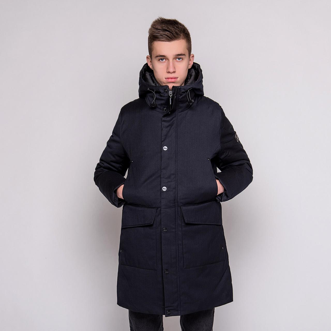 Чоловіча зимова куртка Brioni, темно-синього кольору.