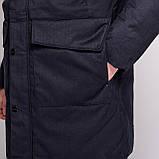 Чоловіча зимова куртка Brioni, темно-синього кольору., фото 5