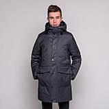 Чоловіча зимова куртка Brioni, темно-синього кольору., фото 9