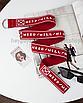 Длинный пояс женский тканевый ремень с надписью принтом ретро винтажный в стиле 90-х, фото 3