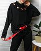 Длинный пояс женский тканевый ремень с надписью принтом ретро винтажный в стиле 90-х, фото 6