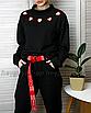 Длинный пояс женский тканевый ремень с надписью принтом ретро винтажный в стиле 90-х, фото 7
