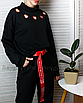Длинный пояс женский тканевый ремень с надписью принтом ретро винтажный в стиле 90-х, фото 8