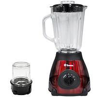Блендер 2 в 1 Domotec MS-6611 с кофемолкой, красный
