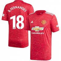 Футбольная форма Манчестер Юнайтед B. FERNANDES 18 ( Англия, Премьер Лига ), домашняя, сезон 2020-2021, фото 1