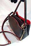 Брендовая женская сумка Zara с боковыми карманами, серая с золотой фурнитурой 24*20 см (натуральная замша), фото 2