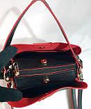 Брендовая женская сумка Zara с боковыми карманами, серая с золотой фурнитурой 24*20 см (натуральная замша), фото 3
