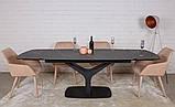 Стол обеденный VULCAN oval керамика серый антрацит 160/240*90 Nicolas (бесплатная доставка), фото 2