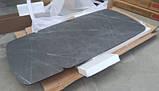 Стол обеденный VULCAN oval керамика серый антрацит 160/240*90 Nicolas (бесплатная доставка), фото 6