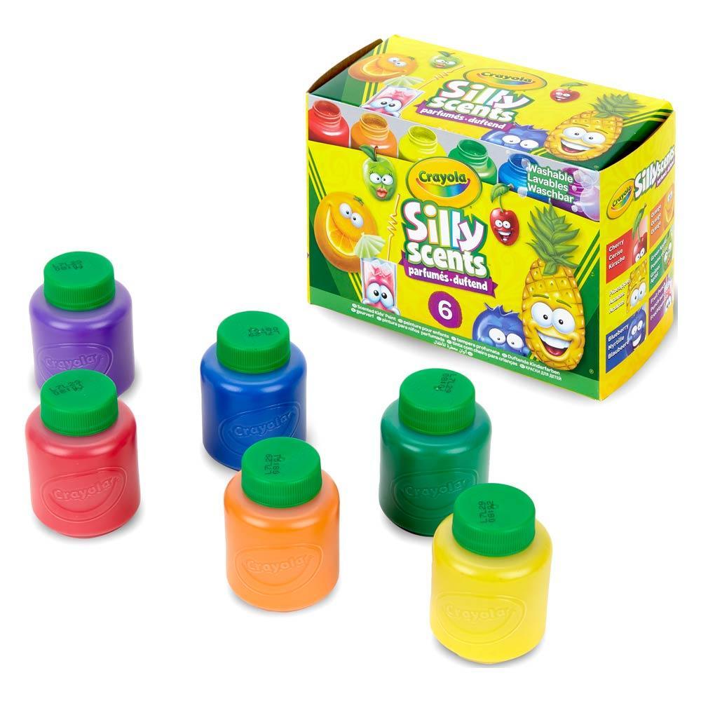 Набор смываемые ароматизированные краски Silly Scents 6 цветов 354 мл. Crayola 54-2392