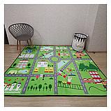 """Безкоштовна доставка! Килим в дитячу """"Містечко"""" зелений"""" утеплений килимок мат (1.5*2 м), фото 2"""