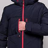 Чоловіча зимова куртка, синього кольору., фото 5