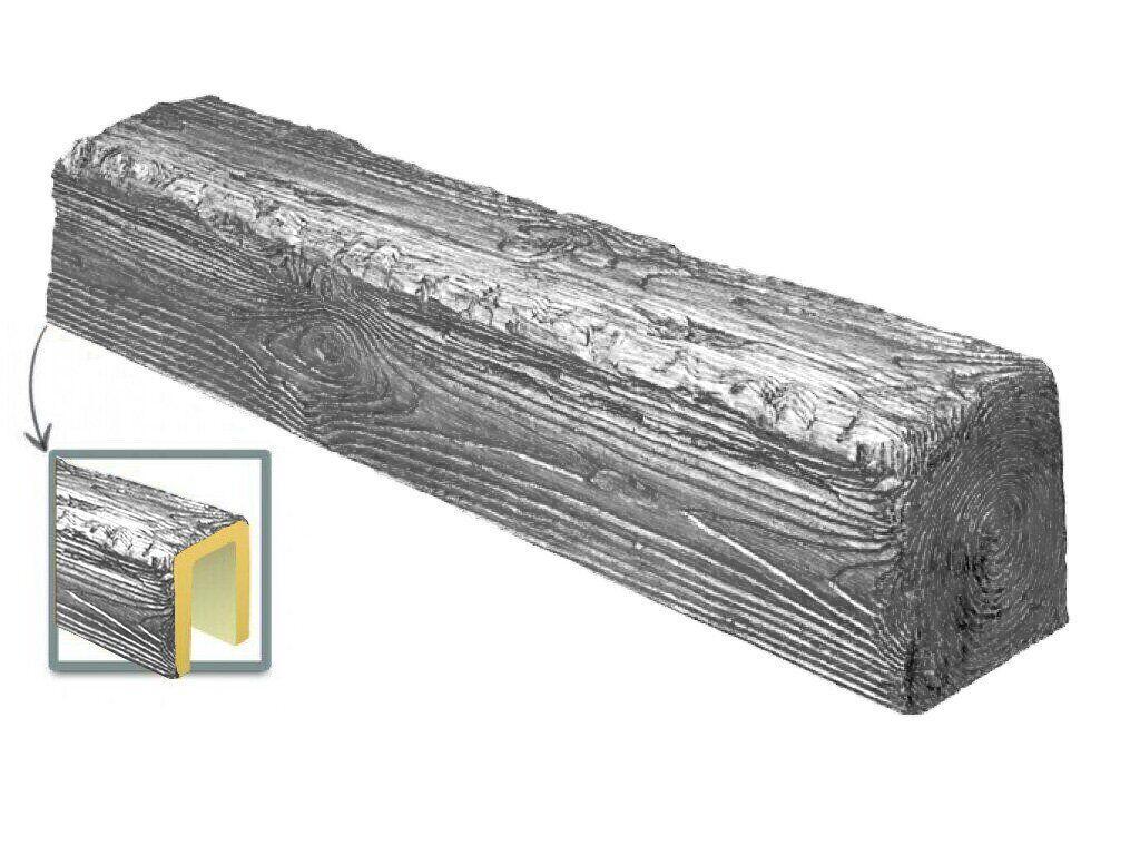 Балка Decowood рустик 17х19см сіре дерево (4м)