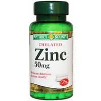Витамины Chelated Zinc 50mg, 100 caps