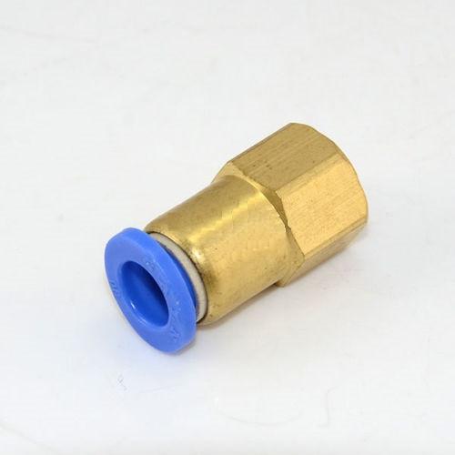 """Соединение цанговое для полиуретановых шлангов PU/PR (прямое, шланг - внутр. резьба) 10ммX1/4"""""""