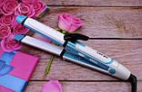 Утюжок гофре стайлер плойка для волос 3 в 1 Gemei GM-2921 (локоны, выпрямитель, гофре), фото 5