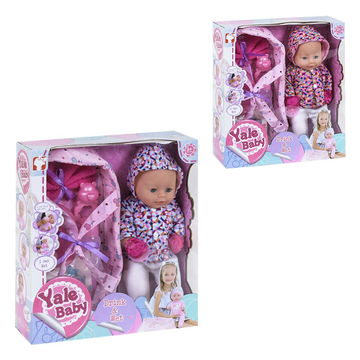 Кукла-пупс в курточке с переноской