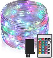 Светодиодные веревочные фонари для вечеринки 100 светодиодов