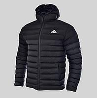 Куртка мужская зимняя Adidas Originals черная повседневная с капюшоном