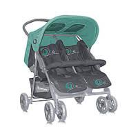 Прогулочная коляска для двойни Bertoni Twin Green Gray