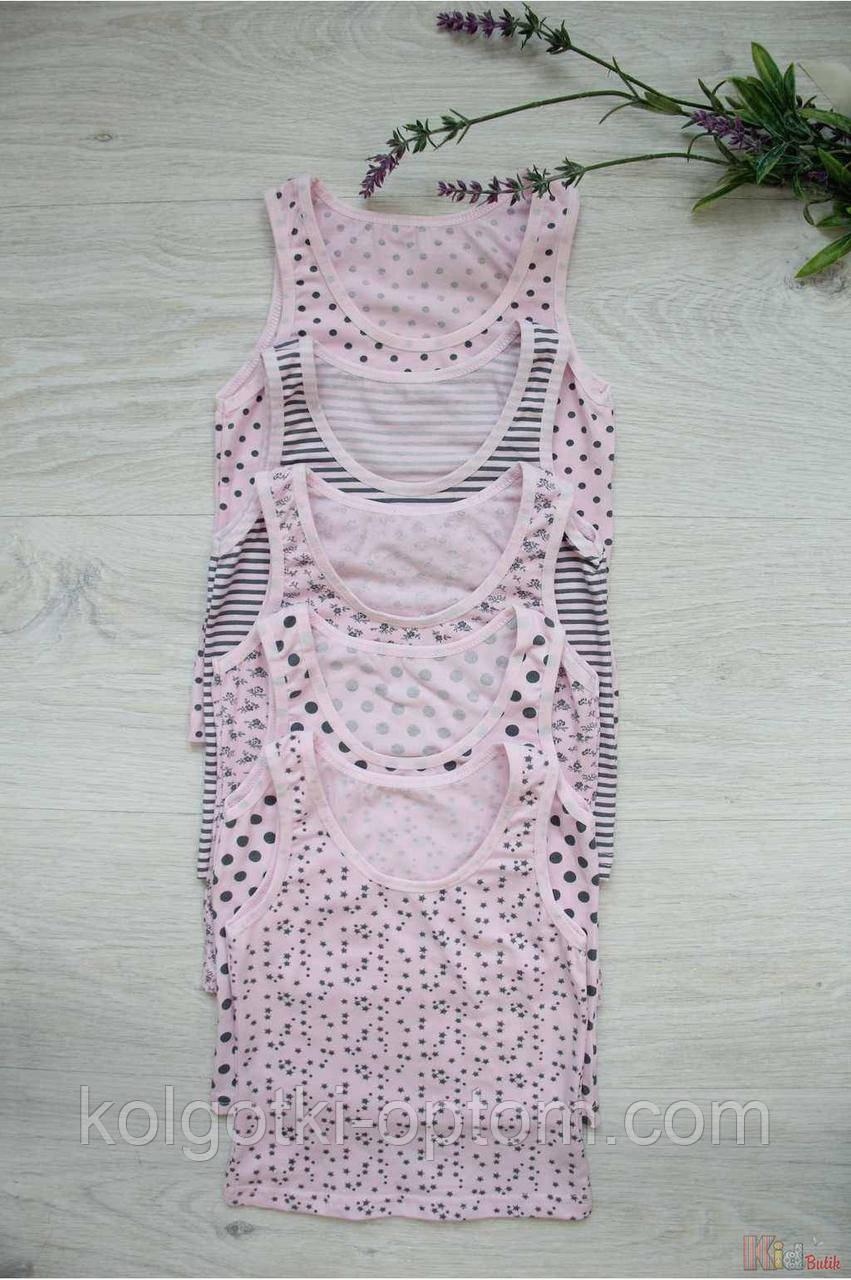 ОПТОМ Майка в розовых тонах на шлейках для девочки 0-1 года (0-1 год)  Donella 8697840295714