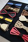 ОПТОМ Бабочка деревянная на резинке для мальчика Nekibuki 2125000661704, фото 2
