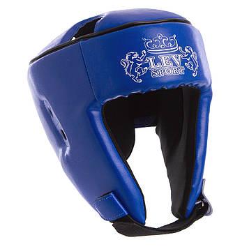 Шлем боксерский открытый Бокс Лев Кожзам (р-р S-L)