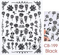 Слайдер для дизайна ногтей СВ-199 черная, фото 1