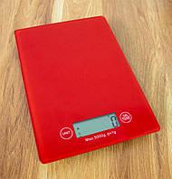 Кухонные весы до 5 кг CK 1912 16х23 см, красные, электронные цифровые весы для продуктов | ваги електронні