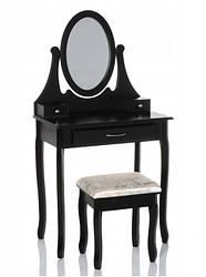 Туалетный столик Wooden Dresser R3 черный + табурет (9328)