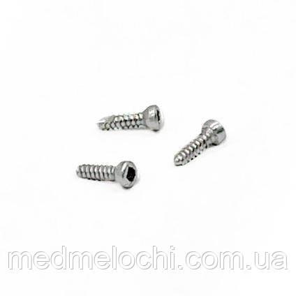 Мікрогвинт D = 2,0 мм, 8 мм, сталь, квадрат